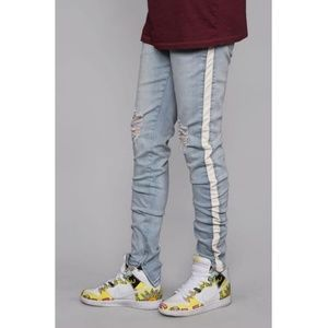 Other - Striped Track Jeans (Vintage/White)